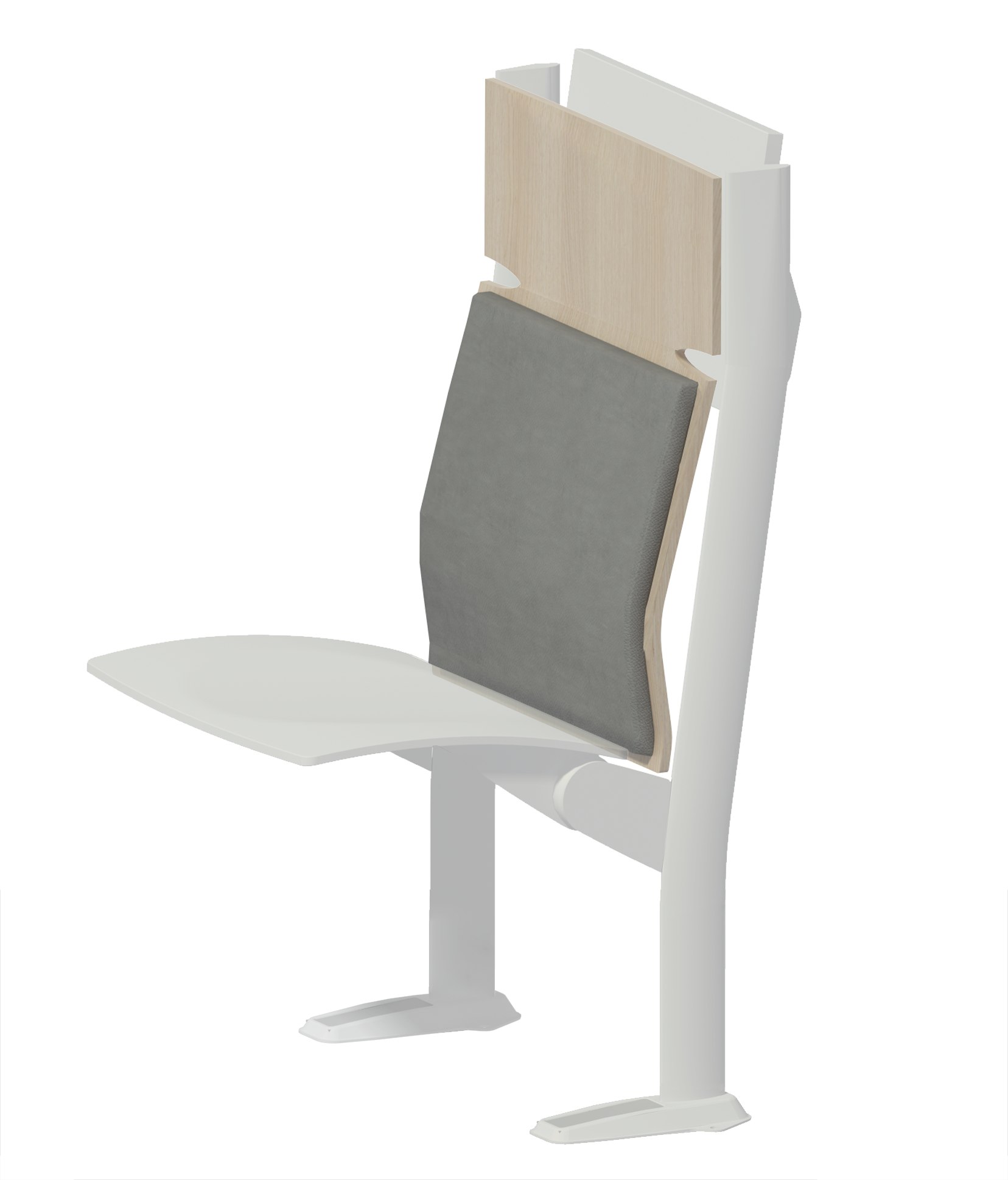 wood pad high  backrest