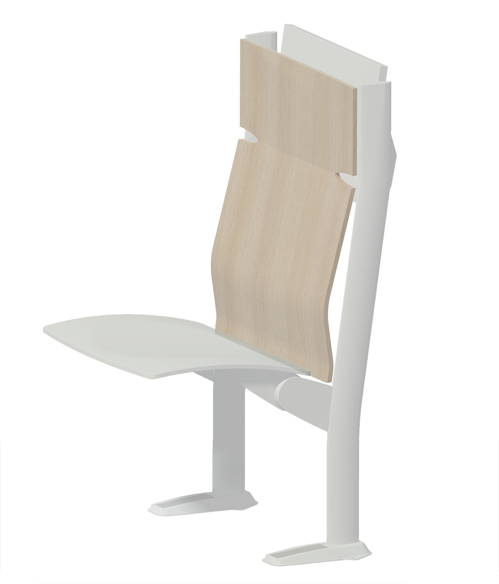 wood high backrest