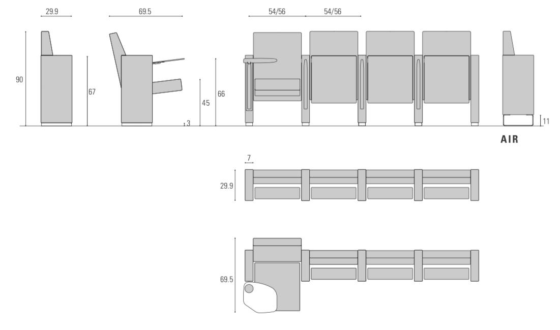 Dimensioni Poltrone Teatro.Aresline Comfort Experiences V9 9